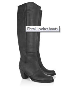 Acne Pistol Leather Boot