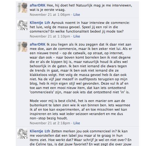 Afterdrk Facebook interview