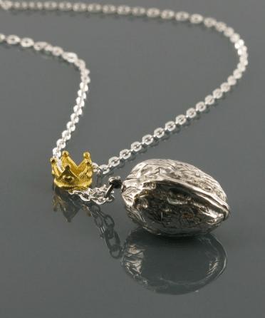 Corpus Christi walnut necklace