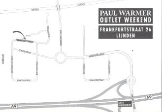 Paul Warmer Outlet routebschrijving