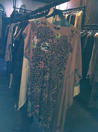 Unconditional dress leopard flowers 1