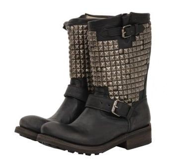 Hebben… studded biker boots van Ash