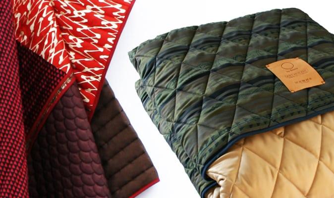 Quilts gemaakt van stropdasstoffen