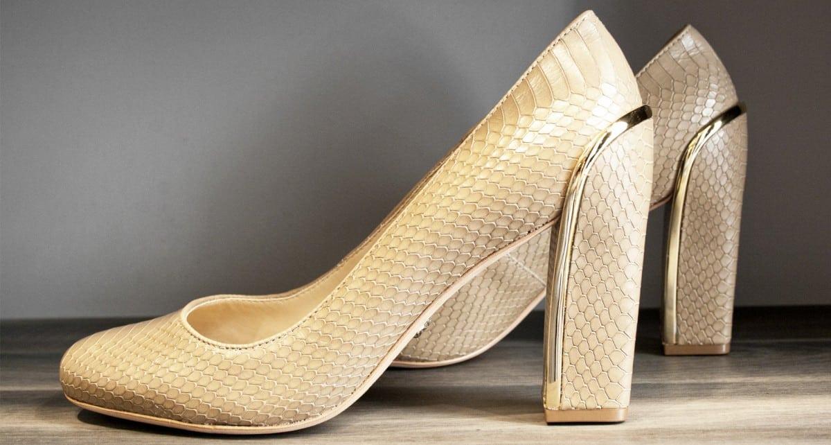 Schoenen met een gouden randje