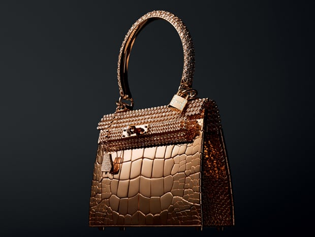 Leather Forever expo en gouden tas van Hermès