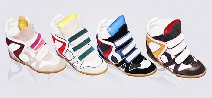 Isabel Marant blijft queen van de wedge sneaker