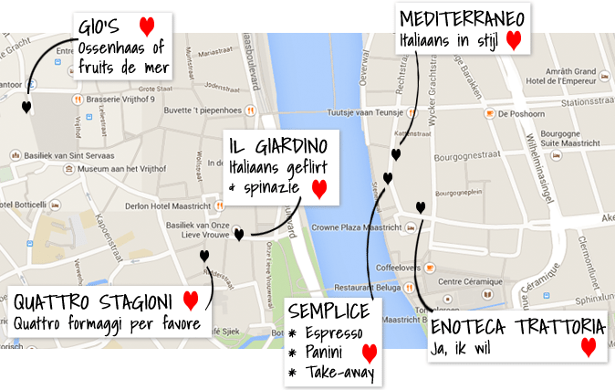 Italiaans eten in Maastricht