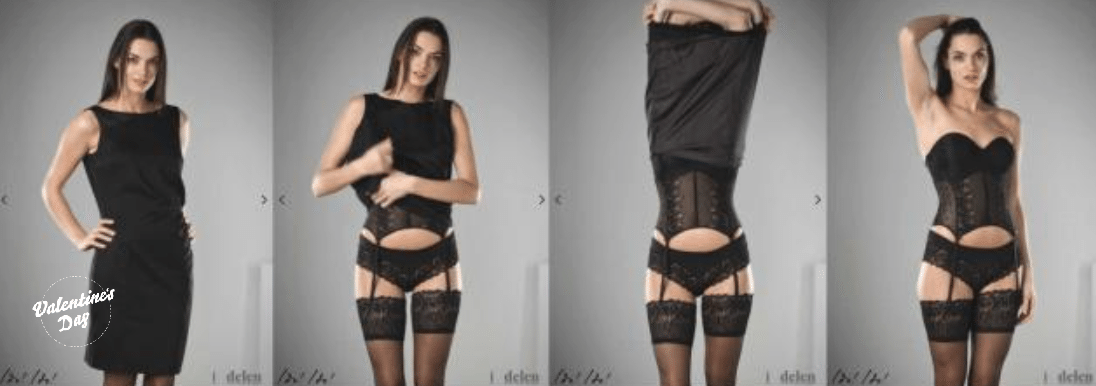 Dress to undress Valentijns uitkleed-app