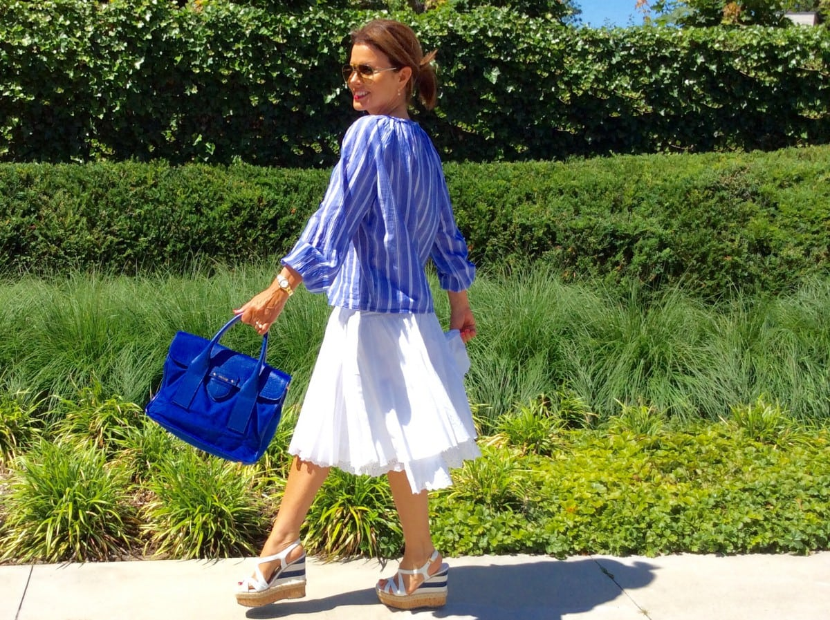Miriam's Thursday: zomers wit en blauw