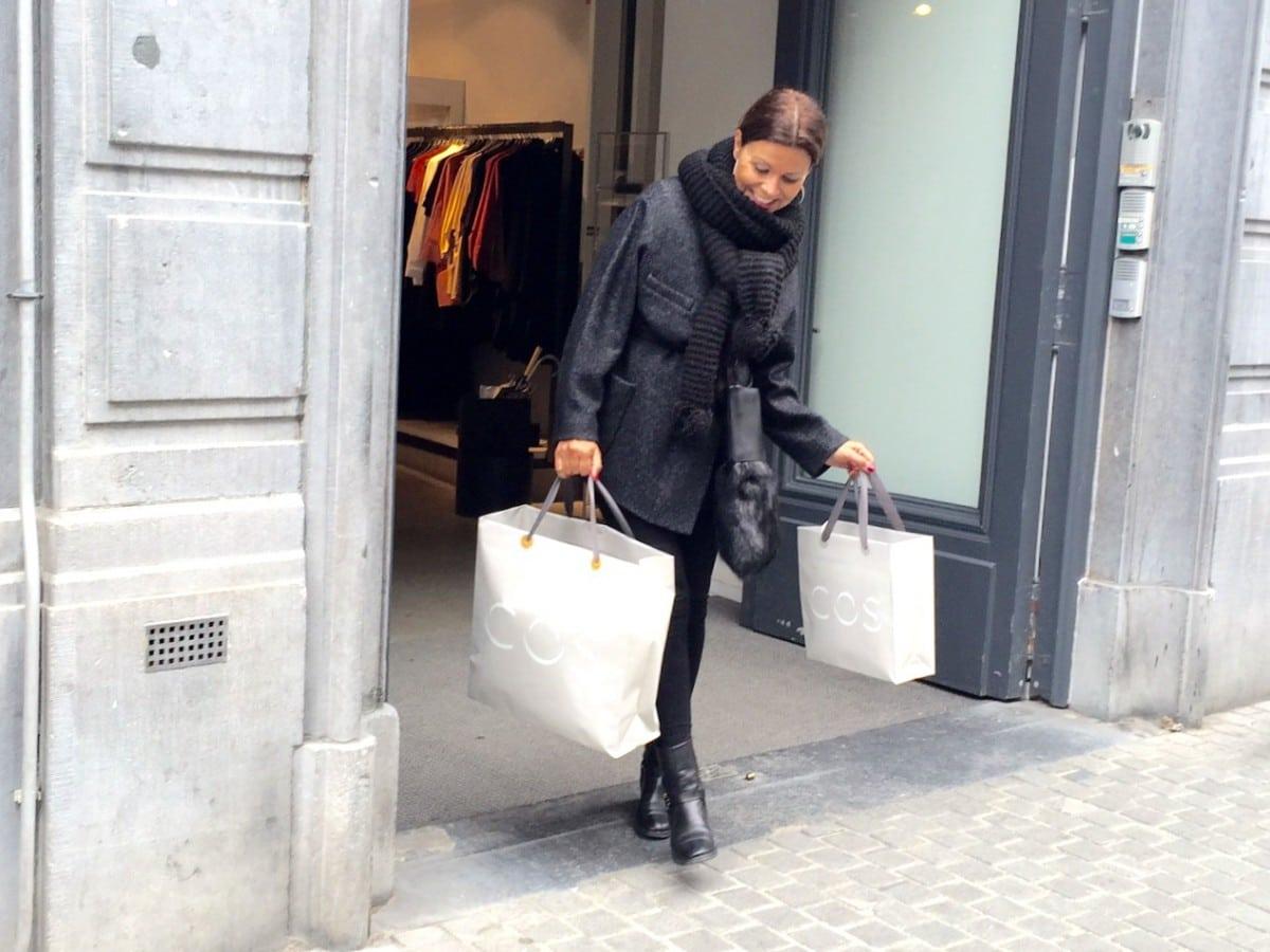 Miriam in Antwerpen met Isabel Marant