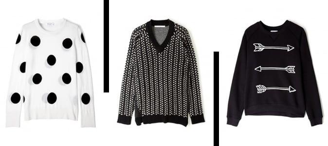 12 x trui in zwart wit