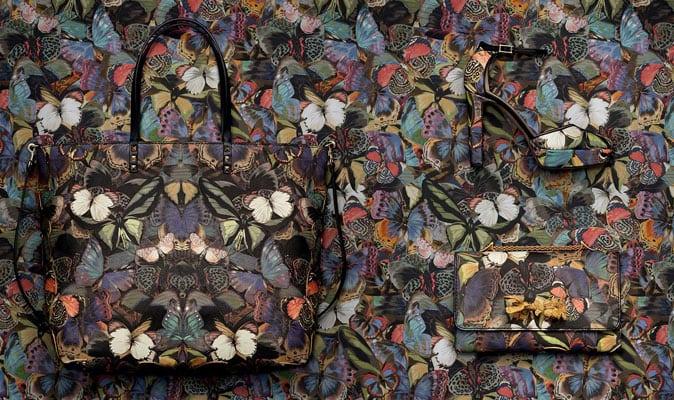 Valentino's camouflageprint uit vlinders