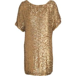 Gouden jurk met pailletten van Vince
