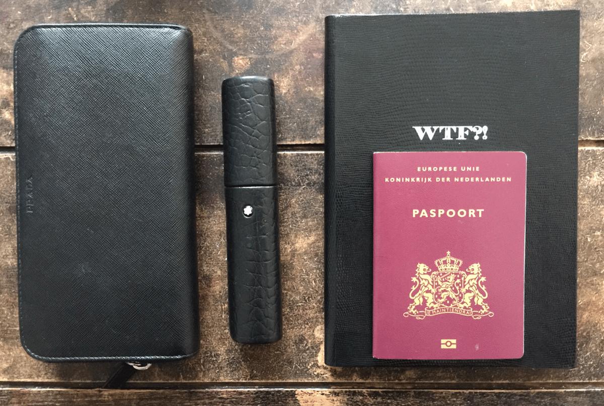 Notebook. Creditcard. Double check: Go!