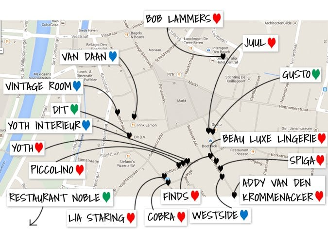 s-hertogenbosch shop route