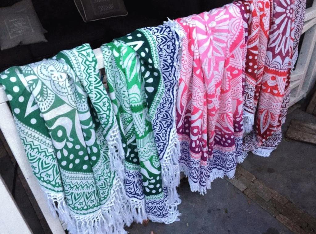 Ronde handdoek