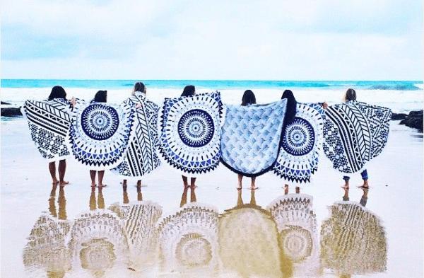 Het ronde strandlaken; ofwel de roundie