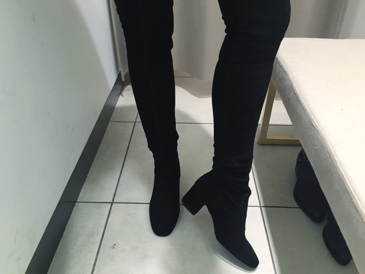 Dag 5: Overknee boots, werk en skinny jeans