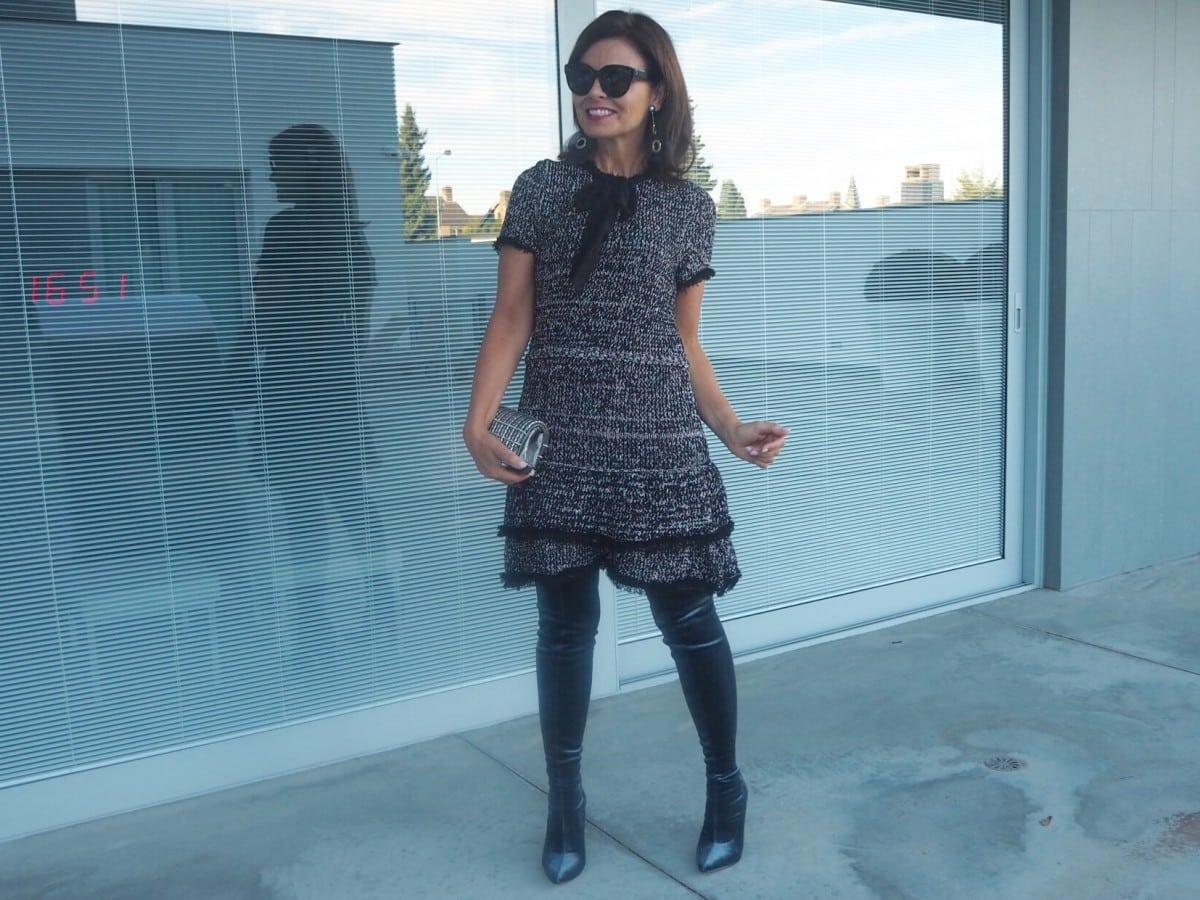 Velvet is vet: blauwe overknee boots