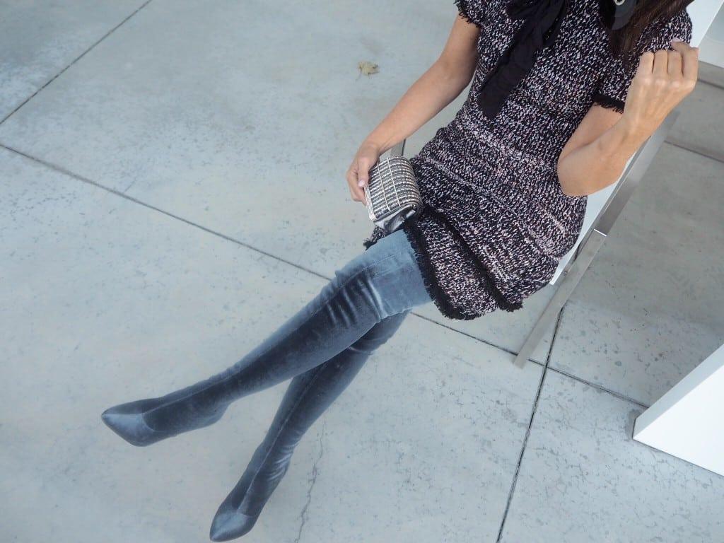 Blauwe overknee Zara