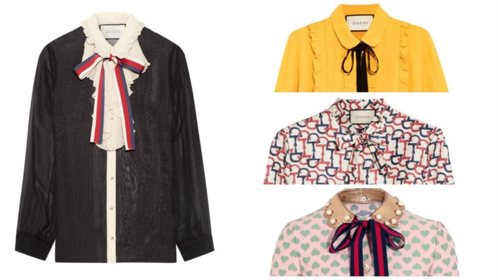 Bij Gucci zit de strik er goed in. Je shopt deze blouses bij Net à Porter.