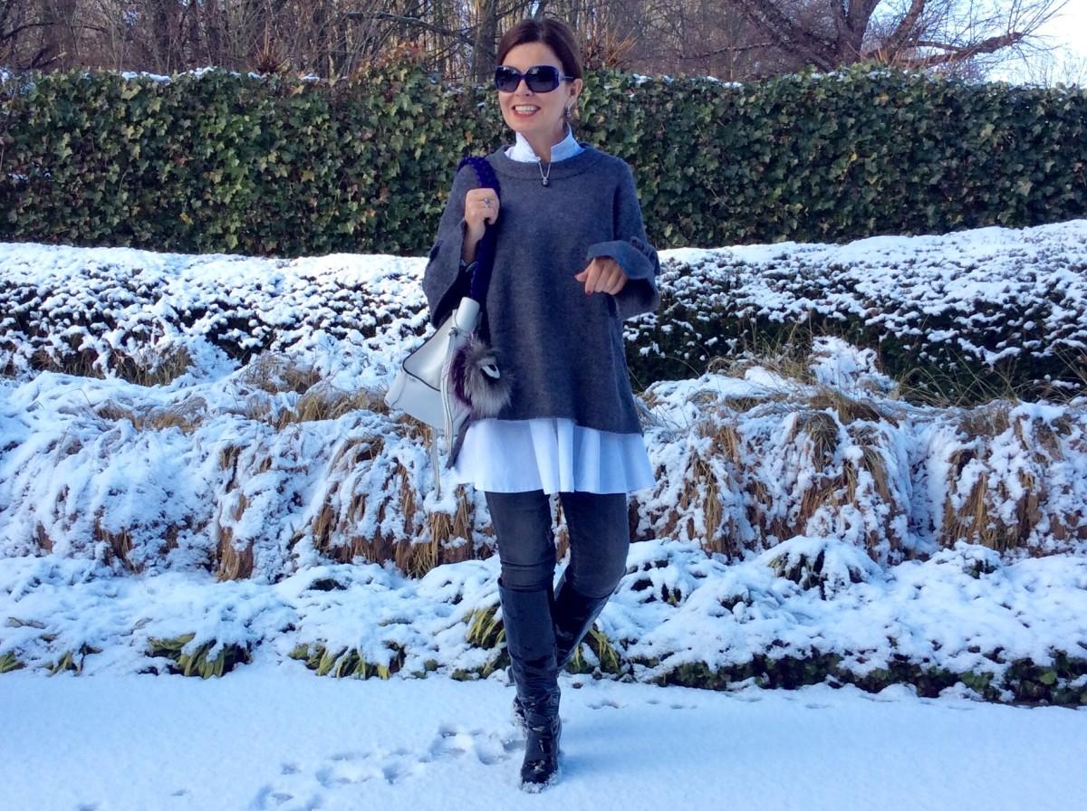 Oversized winterpret in Zara trui