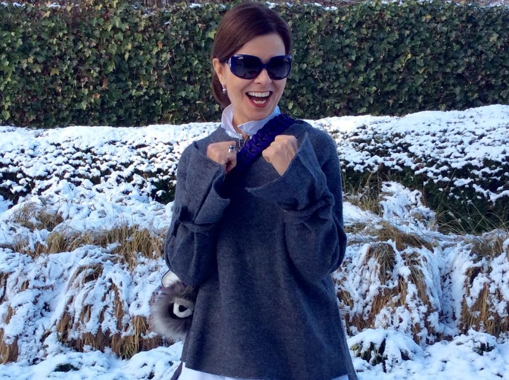 Winterpret in oversized trui Zara | Miriam's Thursday
