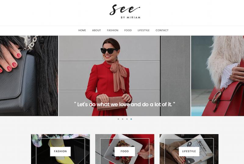 De nieuwe website van Miriam: SeebyMiriam.nl