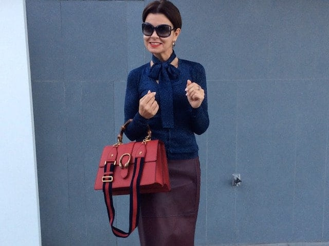 De Gucci bag met gekleurd hengsel van Miriam