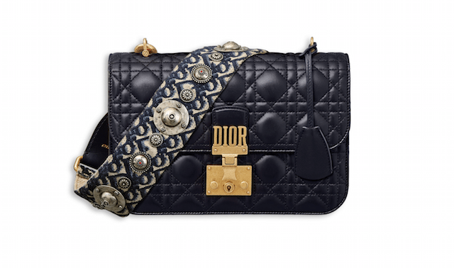 Dior Addict Flap Bag met oblique shoulder strap