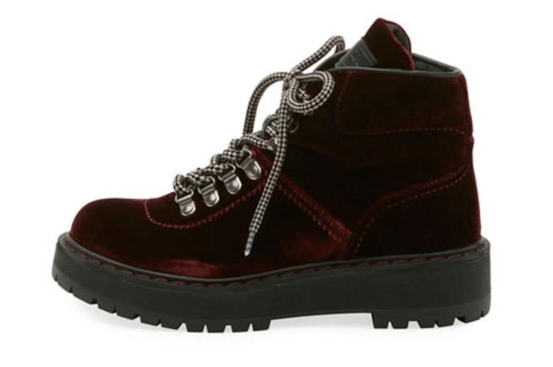 Najaarsklaar met ankle boots in velour