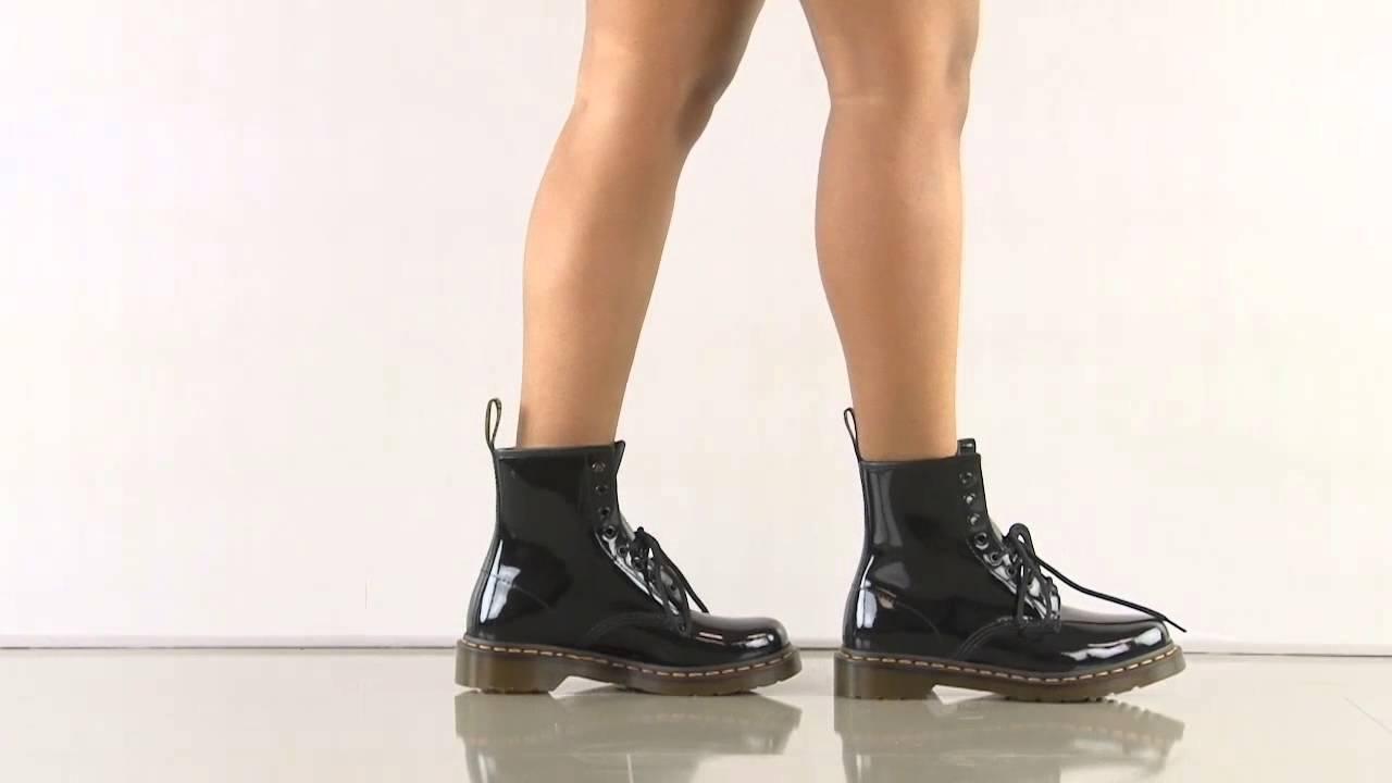 dr martens patent ankle
