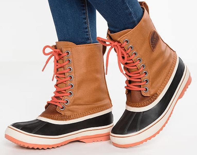 Premium snowboots van Sorel in caramel nectar