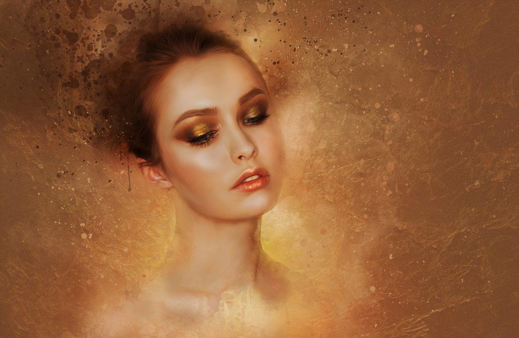 metallic mood, koper, brons, warme gouden tinten, make-up, eyeliner, oogschaduw