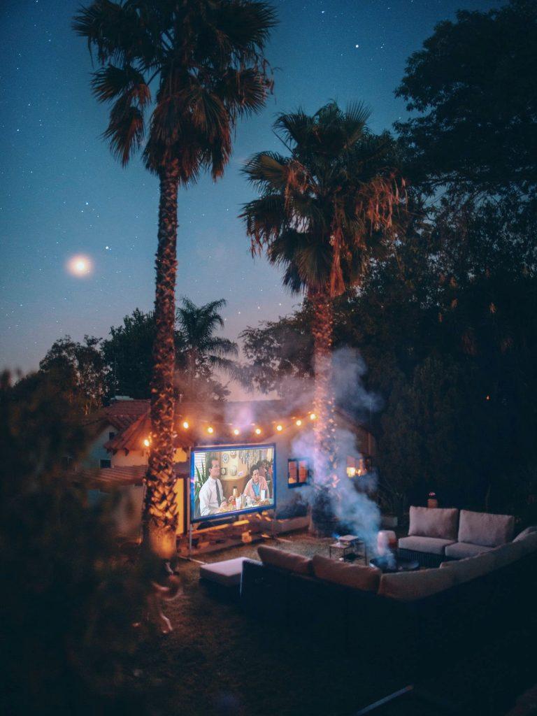 Filmavond in je tuin; in de zomer kan het!